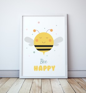 Plakat Bee Happy 2