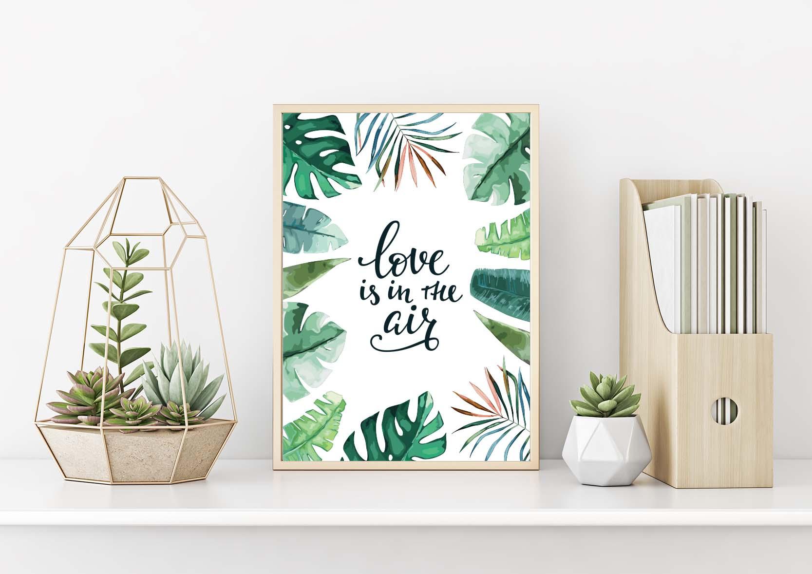 Plakat Z Motywami Roślinnymi Love Is In The Air 1