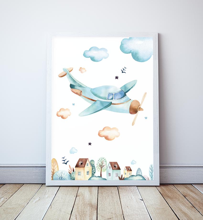Plakat Blue Sky Samolot